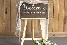 Emily K Weddings - Wooden Wedding Signs / A portfolio of wooden wedding signs, handmade by Emily K Weddings