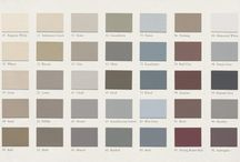 Ierland moodboard keuken / Bovenkant kastjes wit, onderkastjes kleur (lichtblauw/grijs/groen?)