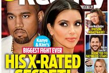 Tabloids / Kanye West & Kim Kardashian Battling Over His X-Rated Secret  / by Hollywood Hiccups