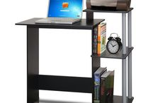 Furinno 11192BK/GY Efficient Computer Desk