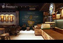 Mẫu quán cafe đẹp / Không gian sáng tạo là đơn vị chuyên thiết kế và thi công nội thất quán cafe chuyên nghiệp tại Hà Nội
