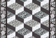 Man quilts