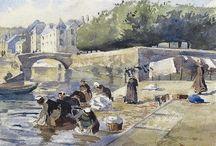 peinture ,les Bretons et la Bretagne