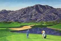 Tony Harris / Tony Harris is recognized as one of the leading golf artists in the world. Tony has been commissioned to paint some of the most prestigious and beautiful golf courses in North America, including commissions for PGA, LPGA, and Senior PGA tour events. A former all-star quarterback in college and an avid golfer, Harris brings an athletes perspective and dedication to his paintings as well as a life-long love of golf.