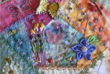 Crazy Quilting / Crazy quilt blocks, crazy quilt stitches, embroidery stitches, crazy quilt inspiration