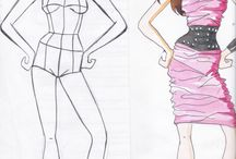 croquis de moda e roupas