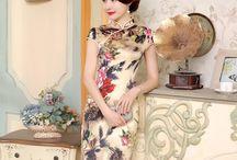 Cotton & Linen Cheongsam Qipao Chinese Dress / Cotton & Linen Cheongsam Qipao Chinese Dress