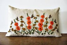 Embroidery - finished objects / Just a note: these are NOT my work! They are just beautiful things I like, that inspire me to do embroidery...  / by Hazel TheBunny