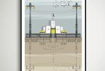 Linescapes - Brighton Prints / A selection of prints of Brighton landmarks available in 4 sizes from http://www.linescapes.co.uk/brighton/
