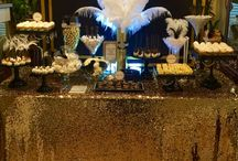great gatsby party / Sweet table