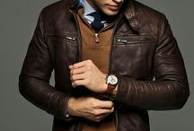 Men's leather jacket style