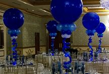ray and chere balloon centerpiece June 30th