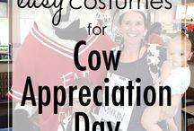CFA Cow Appreciation Day / Quick and easy Cow costume ideas for cow appreciation day