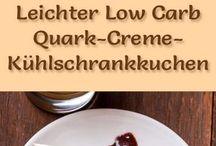 Quark cremekuchen kühlscrank
