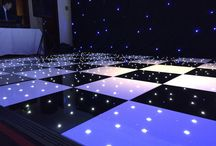 Black & White Starlight Dance Floor / Black and White Starlight LED Dance Floor is perfect for both wedding receptions and corporate events.