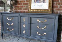 Blue Furniture     Blue Dressers     Blue Sideboards & Buffets / Refinished blue furniture.  Blue dressers.  Blue sideboards & buffets.  Navy blue furniture.