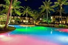Color Swimming Pool with Light / WaterColors LED color swimming pool and spa lights bring a palette of colors to your backyard paradise.
