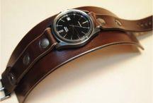 skóra zegarek