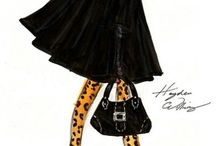 Fashion illustrations  / Silhouettes, colors, volumes and movements in sketches.
