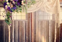 chuppah + arbor inspiration /  front and center. beautiful backdrops for the bride & groom.