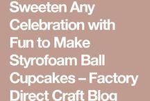 Cupcake snowflakes not ediable