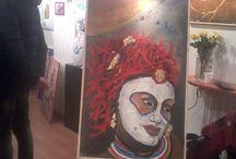 """Mostra personale di AnnaMaria Ognibene  / """"Masquerade"""" tenutasi a Bologna dal 24 al 30 Gennaio 2014."""