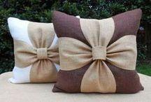 cuscino con fiocco