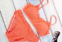 Flirty Orange Halter Bikini Set