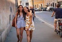 Steven Cox Instagram Photos The girls in #Rome  @mia_tidwell @sanjak  #travel #italy #happy