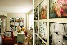 wall displays / Art, prints and photos displayed on walls