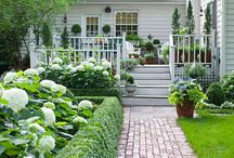 Cottage front yard landscaping / by Tina Eustace