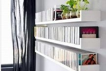 Cd shelving.