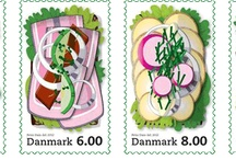 "The new Danish postmarks with ""Smoerrebrod"""