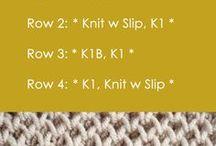 Είδη πλέξης knitting stitches