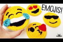 Emoji faces crochet