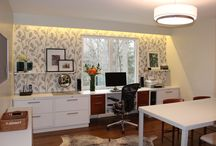 Primed By Design Inc - Mid-Century Home Office / Home office makeover combing mid-century modern and contemporary elements. / by Primed By Design Inc