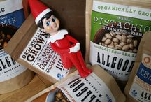 Buddy - Our Elf on the Shelf / We have a new holiday helper this season. Buddy is around to show everyone the amazing, local products we can put inside your custom, gourmet food basket.