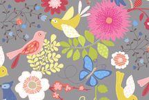 kwiaty i ptaki