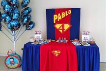 fiesta superman / decoración cumpleaños superman birthday party decoration superman created by Productora Mandalux