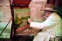 winston Churchil, painting