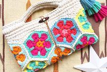 アフリカン モチーフ編み