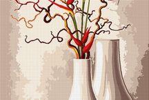 vyšívání - květy