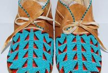 Beaded Mocs / Native shoes
