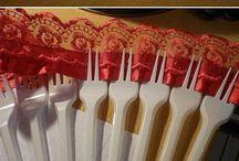 ventaglio di forchette di plastica