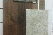 Cabin Retreat 1 / Sands Forest Linear 863-709 Antique copper Beveled 3x6 525-036 3×6 Dune glass 444-142 Canyon Colca Porcelain 12x24 369-034 Pompeii Lipari hand distressed European oak 966-300