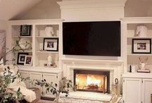 Fireplace in Master