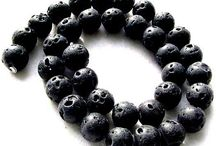 Stone Beads > Lava Beads / Natural Lava Beads in a variety of shapes and sizes.