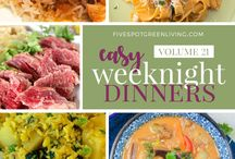 Easy Weekday Meals / Easy and fast meals to make for your family for the busy work week.