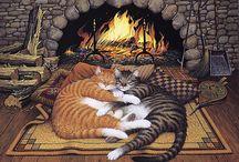 Art - Charles Wysocki / His cat art