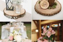 Rustic wedding centrepieces